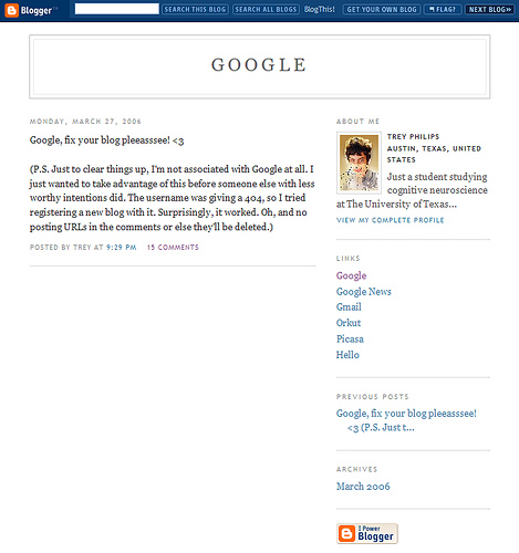 google blog. google blogger. google blog