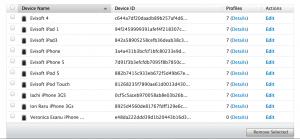 Lista device-urilor asignate contului meu.